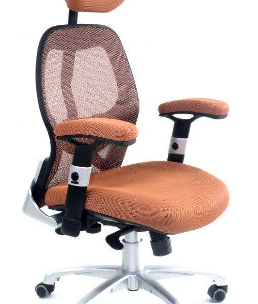 Fotel-biurowy-Ergomax-Flexi-brązowy-509x600